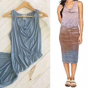 🍁SALE! Hard Tail Long Drape Cut Midi Casual Dress